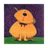 Yellow Dog Print by  Kourosh