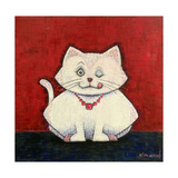 White Cat Posters by  Kourosh
