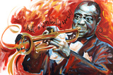 Louis Armstrong: What a Wonderful World Print by  Shen
