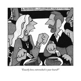 """""""Exactly how entrenched is your beard?"""" - New Yorker Cartoon Premium Giclee Print by William Haefeli"""