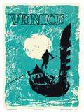 Venice, Italy - Venetian Gondola Prints by  Pacifica Island Art