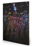 Power Rangers Movie - Colours Wood Sign