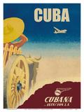 Cuba - Cubana de Aviación S.A. - Cubana Airlines Prints by  Pacifica Island Art