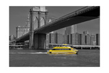 Ny Water Taxi under Brooklyn Bridge Photographic Print by Phil Maier