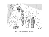 """""""O.K., who overinflated the ball?"""" - New Yorker Cartoon Premium Giclee Print by Farley Katz"""
