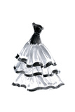 Evening Gown with Ruffles Posters by Tina Amico