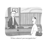 """I'll have whatever's your most populist beer."" - New Yorker Cartoon Premium Giclee Print by Peter C. Vey"