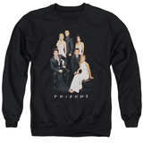 Crewneck Sweatshirt: Friends- Formal Black & Whites Shirt
