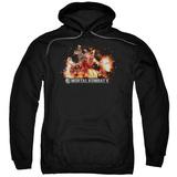Hoodie: Mortal Kombat X- Scorpio Flame Attack Pullover Hoodie