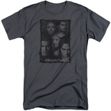 Vampire Diaries- Character Collage Stamp (Big & Tall) T-shirts
