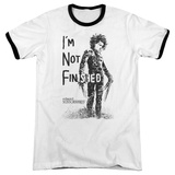 Edward Scissorhands- Not Finished Ringer T-shirts