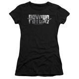 Juniors: Psycho- Logo Cutout Shirts