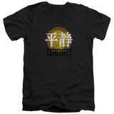 Firefly- Distressed Serenity Logo V-Neck T-Shirt