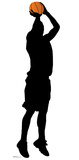 Baskeball Player Shooting Silhouette Cardboard Cutouts