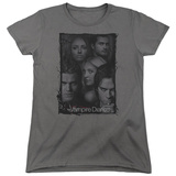 Womens: Vampire Diaries- Character Collage Stamp T-Shirt