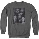 Crewneck Sweatshirt: Vampire Diaries- Character Collage Stamp T-shirts