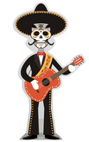 Day of The Dead Guitar Player Cardboard Cutouts