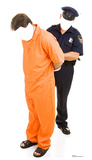 Inmate and Police Officer Standin Cardboard Cutouts