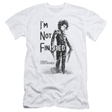 Edward Scissorhands- Not Finished Slim Fit T-Shirt