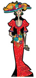 Day of The Dead Woman Cardboard Cutouts