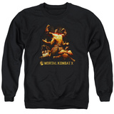 Crewneck Sweatshirt: Mortal Kombat X- Goro Collage T-Shirt