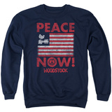 Crewneck Sweatshirt: Woodstock- Peace Now T-shirts