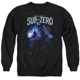 Crewneck Sweatshirt: Mortal Kombat- Sub-Zero In Shadows T-shirts