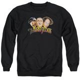 Crewneck Sweatshirt: The Three Stooges- Three Head Logo T-Shirt