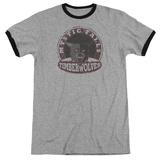 Vampire Diaries- Mystic Falls Timberwolves Patch Ringer T-shirts