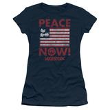 Juniors: Woodstock- Peace Now Shirts