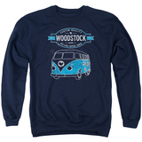 Crewneck Sweatshirt: Woodstock- Peace Van T-shirts