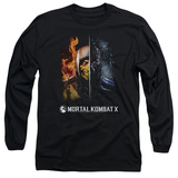 Long Sleeve: Mortal Kombat- Fire And Ice Long Sleeves