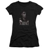 Juniors: Scarface- B&W Tony T-Shirt