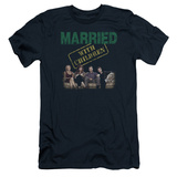Married With Children- Vintage Bundy Couch Time Slim Fit Shirt