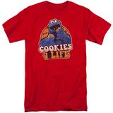 Sesame Street- Cookies 4 Life (Big & Tall) T-shirts