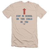 Married With Children- Stay In School Slim Fit T-Shirt