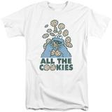 Sesame Street- All The Cookies (Big & Tall) T-shirts
