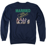 Crewneck Sweatshirt: Married With Children- Vintage Bundy Couch Time Shirt