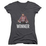 Juniors: Married With Children- Al The Winner V-Neck Womens V-Necks