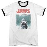 Jaws - Vintage Poster Ringer T-shirts
