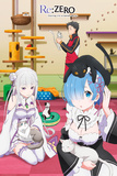 Re : Zero - Re-Zero Cats Prints