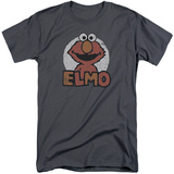 Sesame Street- Elmo Patch (Big & Tall) T-shirts