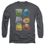 Long Sleeve: Sesame Street- Character Stamps Long Sleeves
