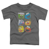 Toddler: Sesame Street- Character Stamps Shirts