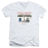 Office Space- Life Is A Beach V-Neck V-Necks