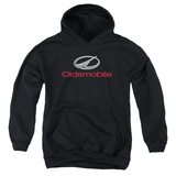 Youth Hoodie: Oldsmobile- Modern Chrome Logo Pullover Hoodie