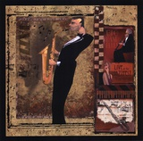 Jazz Sax - Mini Print by Inc., CW Designs