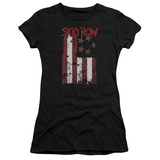 Juniors: Skid Row- Distressed Flag T-Shirt