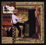 Jazz Piano - Mini Posters by Inc., CW Designs