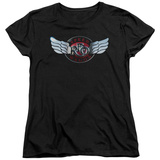 Womans: Reo Speedwagon- Chrome Wings Logo T-Shirt